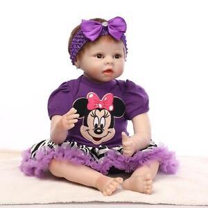 22 Inch Silicone Reborn Baby Dolls Soft Cloth Body Baby Alive Fashion Dolls Toy