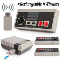 2x Wireless Gamepad Game Controller Joypad For Nintendo NES Classic Mini Console