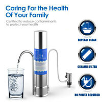 Kitchen Countertop Stainless Steel Drinking Water Purifier Ceramic Filter System