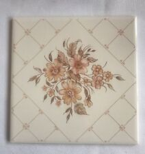 "H & R Johnson Ceramic Wall Tiles NOS 6""x6"" Floral England Flower Vintage"