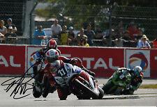 Michael Rutter mano firmado Honda TT leyendas 12x8 Foto 2013 Le Mans 1.