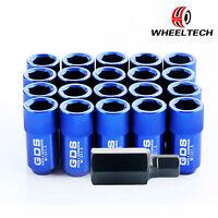 20  for Toyota Honda Ford Mazda Racing Wheel Lug Nuts M12x1.5 42mm Blue Aluminum