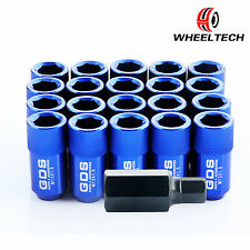 20  for Toyota Honda Ford Mazda Racing Wheel Lug Nuts M12x1.5 42mm Blue Aluminum