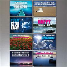 Set 0f 8 Motivazionale e ispiratore citazioni Calamite Da Frigo N° 1