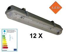 12 X LED Fassung Feuchtraumleuchte IP65 für T8 G13 Röhren Rohre Art .HRS-T5