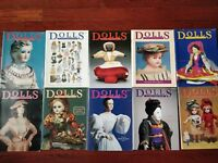 DOLLS The Collectors Magazine - Lot of 10 Magazines 1982 83 84 85 Vintage