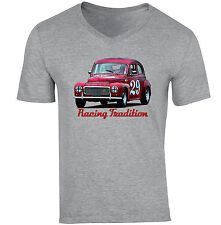 VOLVO PV 544 - NEW COTTON GREY V-NECK TSHIRT
