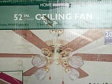 Vintage 52 inch New Old Stock  ceiling fan Home essentials brass finish 6 blade