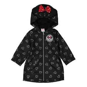 Disney Junior Minnie Mouse Hooded Black Full Zip Logo Jacket - Size 2T