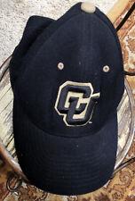 C U Colorado University Buffaloes NCAA Zephyr Fit Cap Hat Black Gold Z Size S