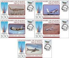 AMERICAN AIRLINES CENTENARY OF FLIGHT SET OF 5 COVERS