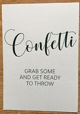 Confetti Sign For confetti bar Biodegradable Eco Friendly Wedding Ivory Signage