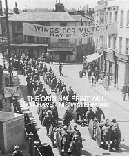 WINGS FOR VICTORY PARADE DORKING 1943 VINTAGE MOUNTED PRINT WORLD WAR ANCESTRY