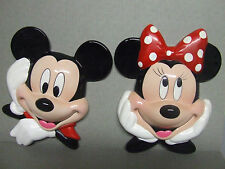 Disney/Enesco Mickey & Minnie Mouse Wall Plaques