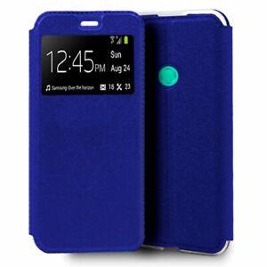 Funda de Libro color Azul para Huawei Y6 (2019), Huawei Honor 8A, Huawei Y6s