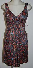 CACHAREL Sleeveless Double V-Neck Cotton Dress Size 4 $495 NWT