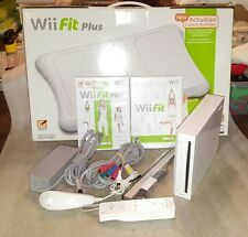 Nintendo Wii Console and Balance Board With Wii Fit Plus Game Ready to Go!