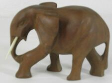 African Carving Wood Carved Elephant Tusks At Least 45 Yrs Old Rgl