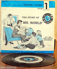 Vintage Record 33 1/3 Record Story of Mr. World Volume 1 Side One and Two