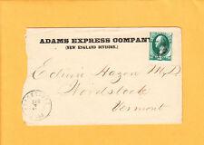 Adams Express Co New England Division Blackstone MA Dr. E Hazen Woodstock VT z21