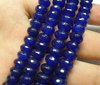 5x8mm Faceted Blue Sapphire Gemstone Roundel Loose Beads 15""