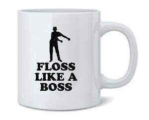Floss Like A Boss Dance Silhouette Funny 12 oz Coffee Mug