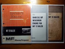 Massey Ferguson MF12 MF 12 Baler Owner Operator Manual + Assembly & Pre-Delivery