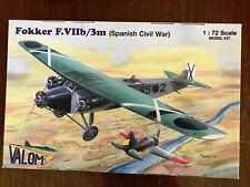 Valom 1/72 Fokker F.VIIb/3m (Spanish Civil War) NEW