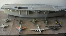 1998 Aircraft Carrier Navy Ship(Red Box) W/ 7 Diecast Aircrafts & 2 Helicopters