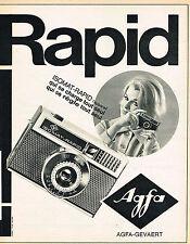 PUBLICITE ADVERTISING 015  1966  AGFA  appareil photo  ISOMAT-RAPID