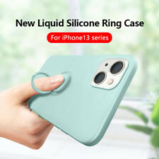 For iPhone 13 12 Pro Max 11 XS XR 8 7 X Liquid Silicone Holder Soft Case Cover