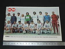 CLIPPING POSTER FOOTBALL 1976-1977 STADE RENNAIS RENNES ROAZHON