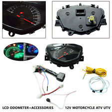 Motorcycle LCD Digital Speedometer Odometer Tachometer Dual-process Instrument