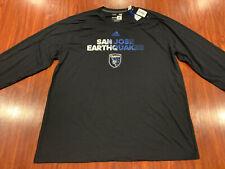 Adidas San Jose Earthquakes Men's Long Sleeve Soccer Jersey Shirt XXL 2XL MLS