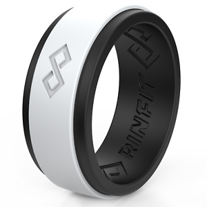 Silicone Wedding Ring for Men by Rinfit. Soft Men's Rubber bands.
