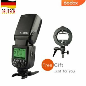 DE Godox TT685S 2.4G HSS TTL-Kamera Blitz Speedlite + Free S-Halterung für sony