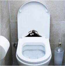 wall stickers adesivo wc funny monster pub locali bagno water toilette discoteca