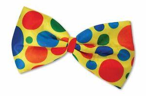 New Clown Jumbo Bow Tie Tie Accessory for Circus Fancy Dress Polka Dot BowTie