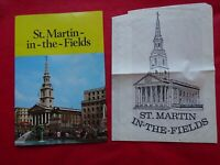VINTAGE ST.MARTIN-IN-THE-FIELDS SOUVENIR BROCHURE--FREE POSTAGE