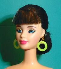 Barbie Dreamz NEON YELLOW MOD HOOPS Hoop Earrings Doll Jewelry