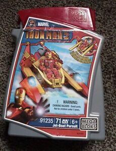 Mega Bloks Iron Man Jet Boat Pursuit 91235 NIB *New*