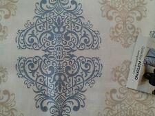Gutermann Portofino blue/cream damask style 100%cotton, fat quarter, free p&p,