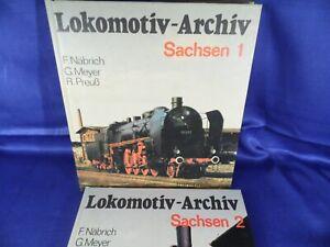 2 Bücher - Lokomotivarchiv - Transpress - Sachsen 1 & 2