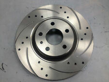 VAUXHALL CORSA D VXR FRONT DISCS DRILLED & GROVED VENTED 2007 ONWARDS