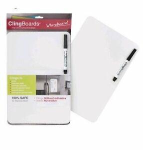 Clingboard Whiteboard- Small/Medium- White