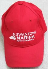 Port And Company Red Baseball Hat One Size Strap Back Swantown Marina Olympia