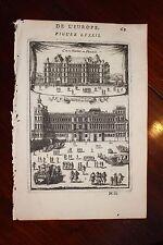 ✒ 1683 MANESSON MALLET château de MADRID Bois BOULOGNE (détruit) PARIS & ESPAGNE