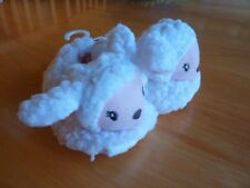 BITTY BABY AMERICAN GIRL TODDLER  LAMB SLIPPERS~SIZE SMALL (4.5-6)~NEW W/TAGS