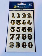 Z Design Zahlenetiketten Gold Sticker Etiketten Zahlen 15 mm 40 Zahlen