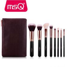 PRO Rose Gold 8PCs Makeup Brushes Set Powder Cosmetic Tool Natural Hair Case Bag